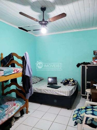 casa  com 2 dorms, 2 dep emp, gars, marapé, santos - r$ 500 mil - v2880