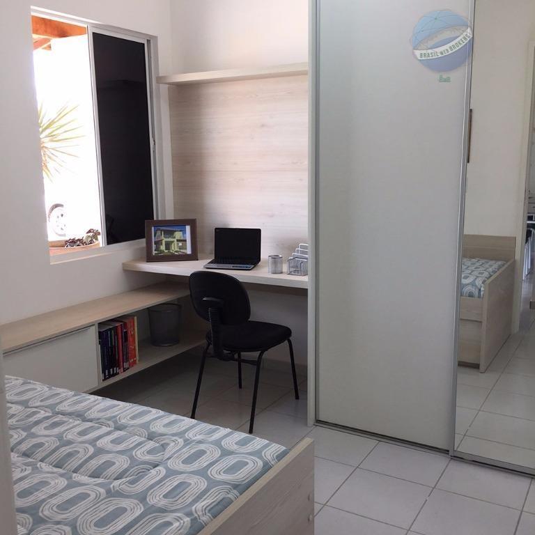 casa com 2 quartos em condomínio fechado, perto do if de parnamirim - residencial pitanga - ca0004