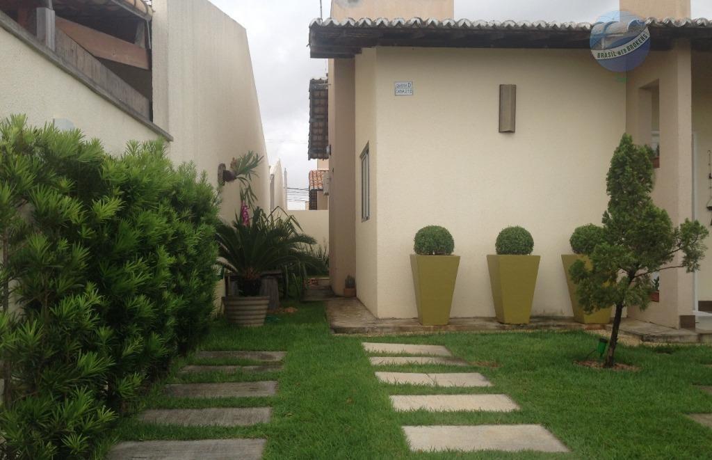 casa com 2 quartos sendo 1 suíte, em condomínio fechado, em parnamirim - villares dos mares - ca0036