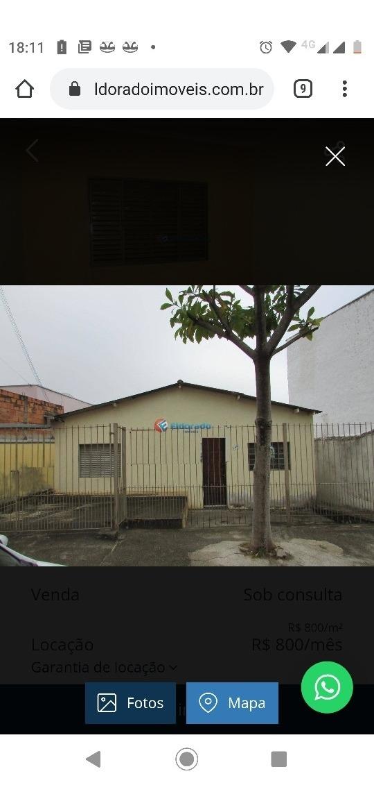casa com 3 dormitórios 1 banheiro sala cozinha na frentre