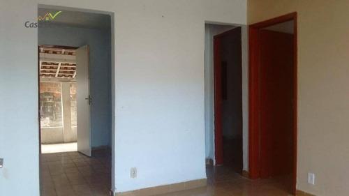 casa com 3 dormitórios para alugar, 100 m² por r$ 700/mês - jardim brasília - mogi guaçu/sp - ca1444