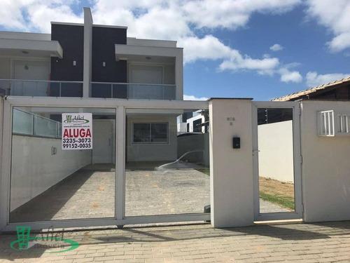 casa com 3 dormitórios para alugar, 137 m² por r$ 2.600/mês - campeche - florianópolis/sc - ca0873
