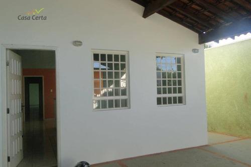 casa com 3 dormitórios para alugar, 140 m² por r$ 1.200,00/mês - vila pataro - mogi guaçu/sp - ca1453