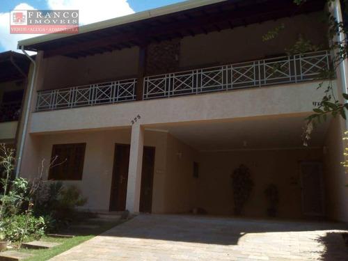 casa com 3 dormitórios para alugar, 225 m² por r$ 3.650/mês estrada municipal do roncáglia, 1 - condomínio são joaquim - valinhos/sp - ca0377