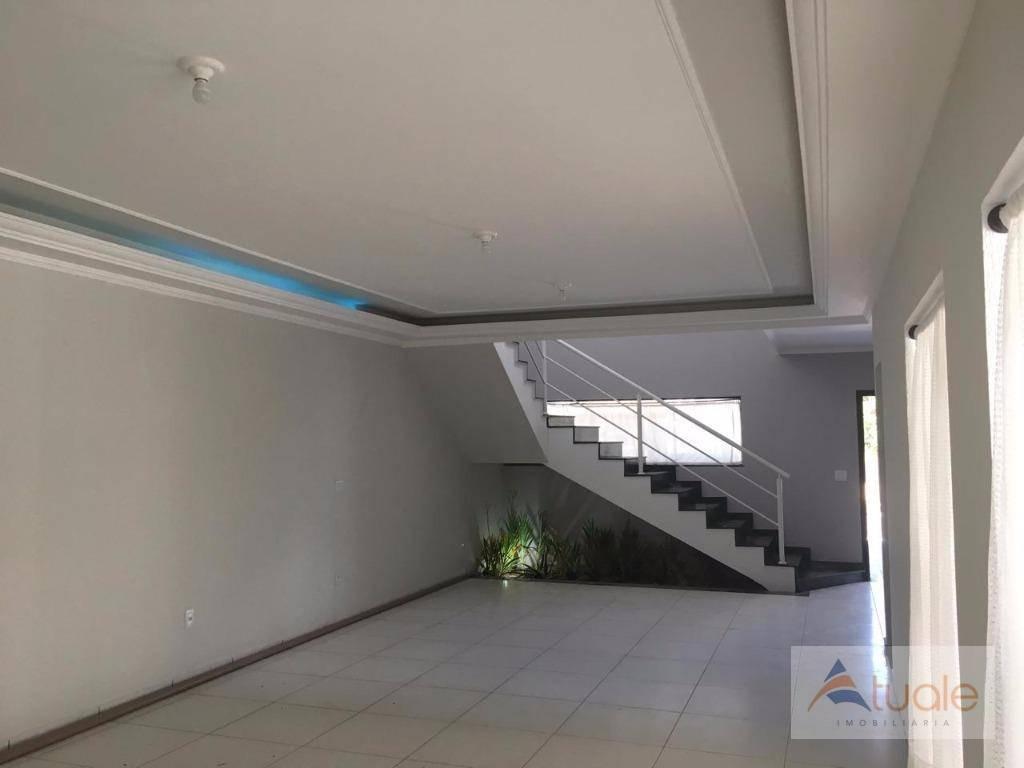 casa com 3 dormitórios para alugar, 330 m² por r$ 4.000,00/mês - condomínio metropolitan park - paulínia/sp - ca5228