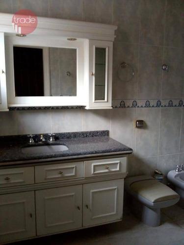 casa com 3 dormitórios para alugar, 480 m² por r$ 7.000,00/mês - jardim irajá - ribeirão preto/sp - ca0167
