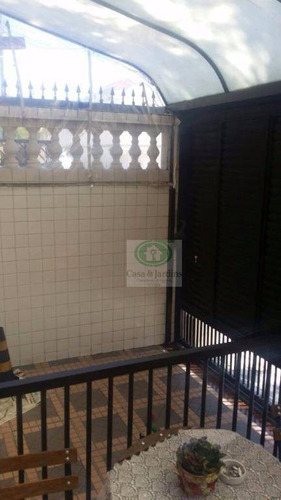 casa com 3 dormitórios à venda, 117 m² por r$ 550.000,00 - boqueirão - santos/sp - ca0770