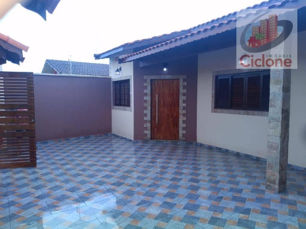 casa com 3 dormitórios à venda, 125 m² por r$ 390.000 - balneário gaivota - itanhaém/sp - ca0637