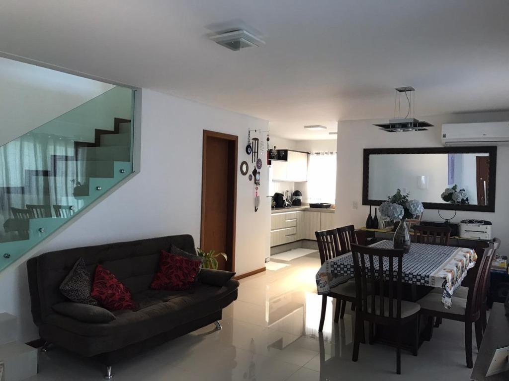 casa com 3 dormitórios à venda, 128 m² - carianos - florianópolis/sc - ca1429