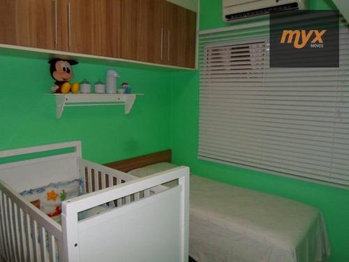 casa com 3 dormitórios à venda, 128 m² por r$ 550.000 - vila valença - são vicente/sp - ca0822