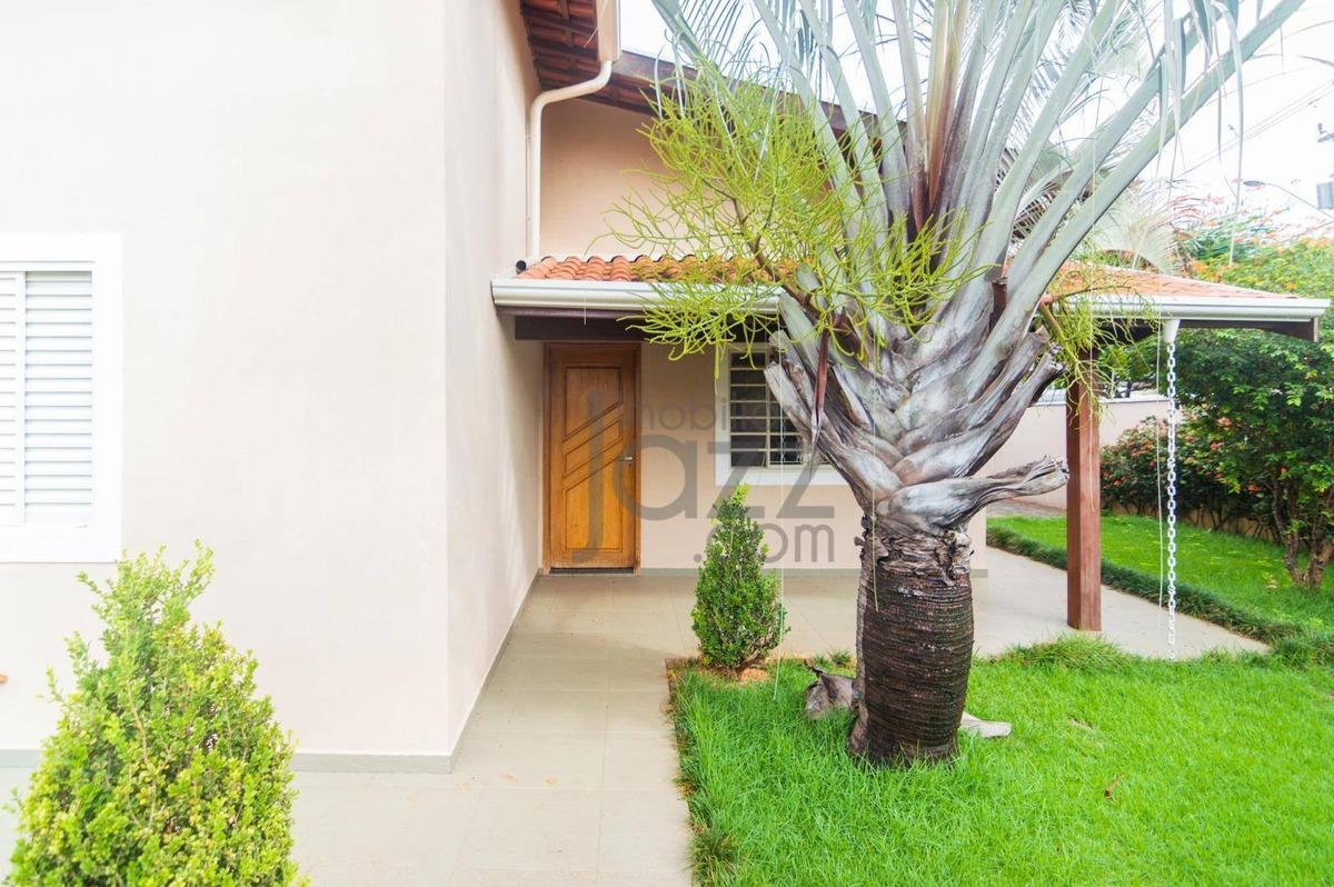 casa com 3 dormitórios à venda, 130 m² por r$ 620.000 - residencial terras do barão - campinas/sp - ca4126