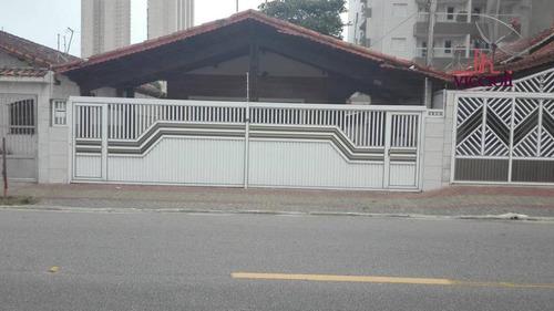 casa com 3 dormitórios à venda, 134 m² por r$ 435.000 - vila mirim - praia grande/sp - ca0104