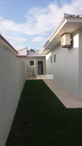 casa com 3 dormitórios à venda, 139 m² por r$ 480.000 - parati - araruama/rj - ca0301