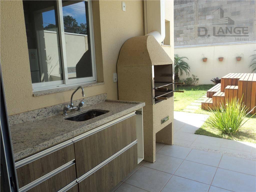 casa com 3 dormitórios à venda, 143 m² por r$ 911.000 - parque rural fazenda santa cândida - campinas/sp - ca8655