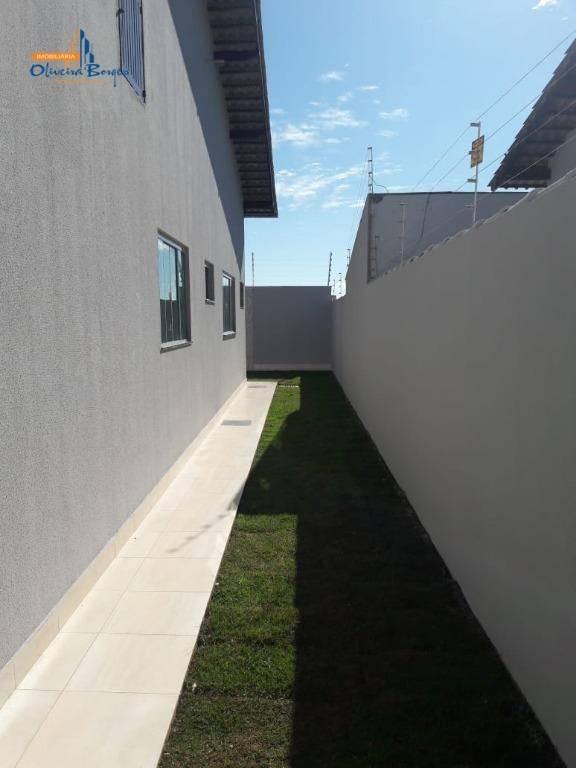 casa com 3 dormitórios à venda, 150 m² por r$ 300.000 - residencial veneza - anápolis/go - ca1449