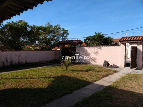 casa com 3 dormitórios à venda, 160 m² - cordeirinho (ponta negra) - maricá/rj - ca3602