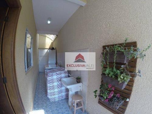 casa com 3 dormitórios à venda, 164 m² por r$ 605.000 - jardim satélite - são josé dos campos/sp - ca0562
