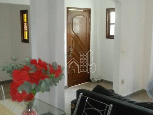casa com 3 dormitórios à venda, 185 m² por r$ 286.000 - engenho do mato - niterói/rj - ca0980