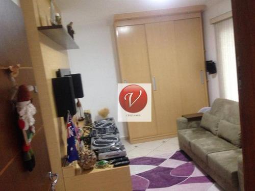 casa com 3 dormitórios à venda, 185 m² por r$ 680.000 - rudge ramos - são bernardo do campo/sp - ca2874