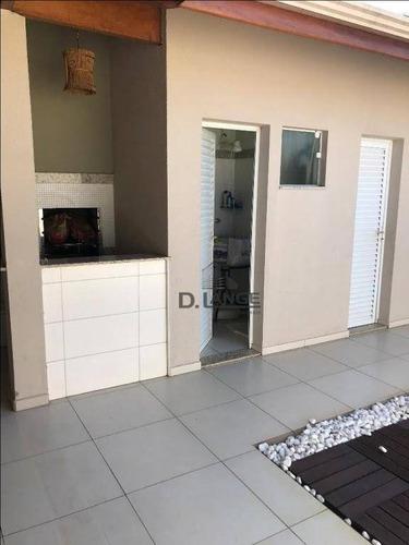 casa com 3 dormitórios à venda, 190 m² por r$ 690.000 - condomínio campos do conde - paulínia/sp - ca11952