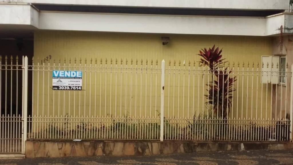 casa com 3 dormitórios à venda, 199 m² por r$ 800.000,00 - centro - limeira/sp - ca0173