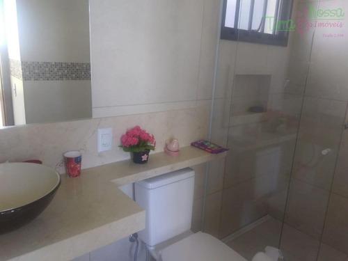 casa com 3 dormitórios à venda, 215 m² por r$ 1.000.000 - világio paradiso - louveira/sp - ca1094