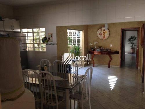 casa com 3 dormitórios à venda, 222 m² por r$ 480.000 - parque são miguel - são josé do rio preto/sp - ca1859
