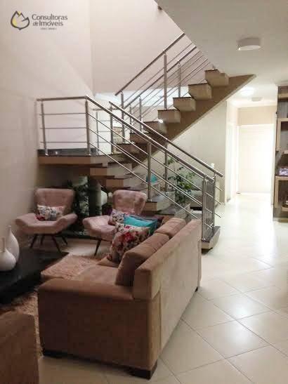 casa com 3 dormitórios à venda, 261 m² por r$ 855.000,00 - condomínio raizes - paulínia/sp - ca0592