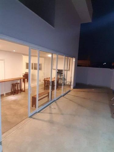 casa com 3 dormitórios à venda, 278 m² por r$ 750.000 - condomínio campos do conde ii - paulínia/sp - ca12796