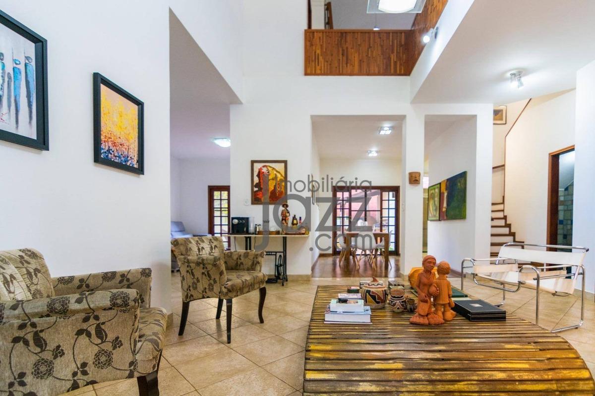 casa com 3 dormitórios à venda, 278 m² por r$ 990.000 - cidade universitária - campinas/sp - ca4648