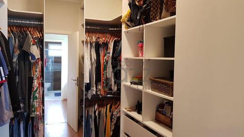 casa com 3 dormitórios à venda, 280 m² por r$ 1.250.000 - condomínio jacarandas - paulínia/sp - ca4580