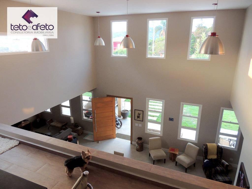 casa com 3 dormitórios à venda, 370 m² por r$ 2.290.000 - jardim santos reis - piracaia/sp - ca2552