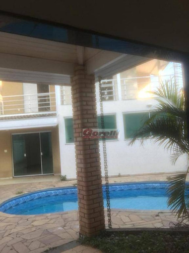 casa com 3 dormitórios à venda, 410 m² por r$ 1.250.000 - condomínio aruã lagos - mogi das cruzes/sp - ca1362