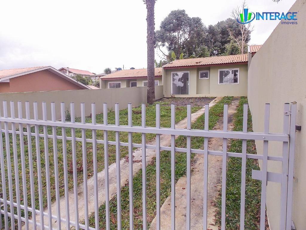 casa com 3 dormitórios à venda, 55 m² por r$ 145.000 - jardim das acácias - campo largo/pr - ca0270