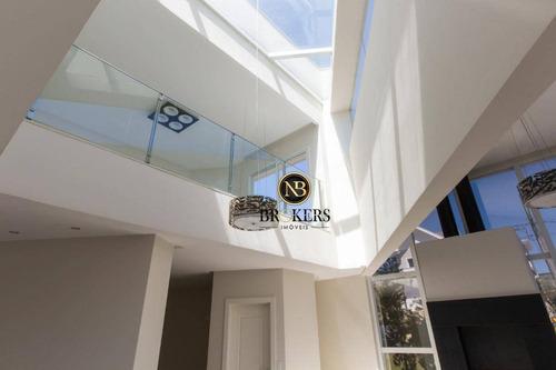 casa com 3 dormitórios à venda, 563 m² por r$ 2.750.000,00 - alphaville graciosa - pinhais/pr - ca0004