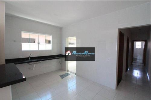 casa com 3 dormitórios à venda, 90 m² por r$ 199.000 - cidade nova peruibe - peruíbe/sp - ca1346