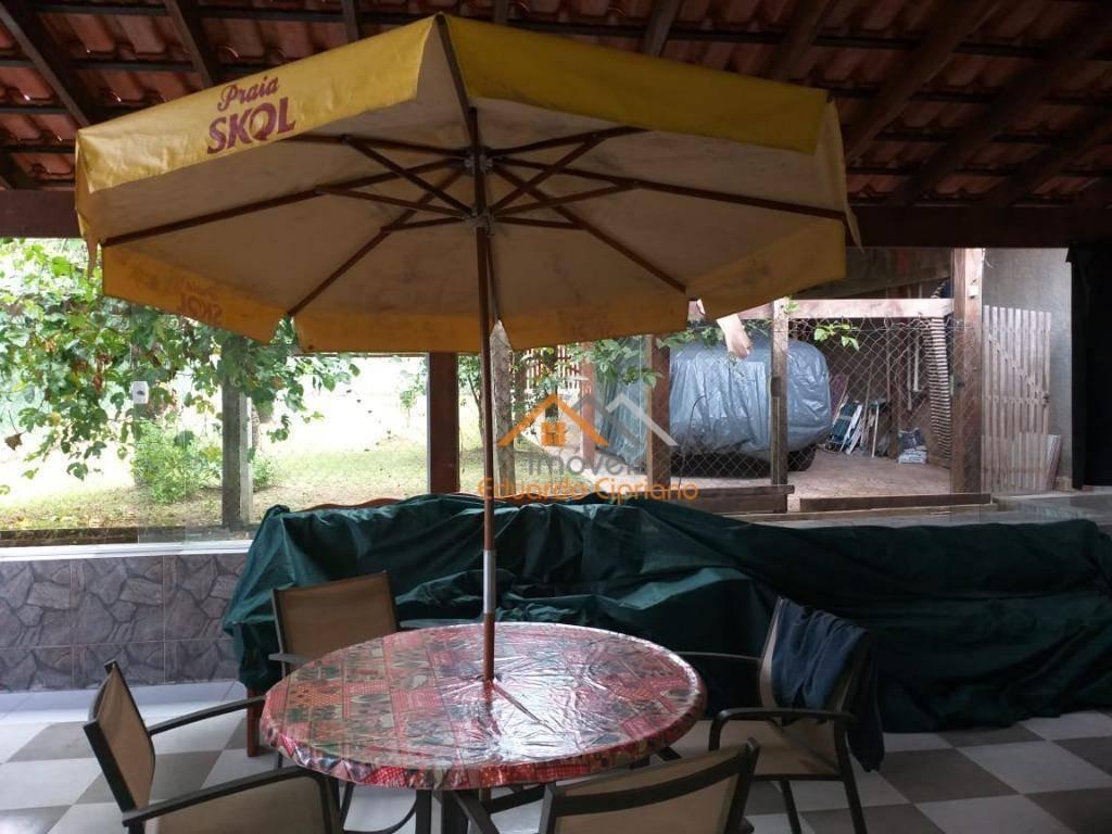 casa com 3 dormitórios à venda, 93 m² por r$ 500.000 - massaguaçu - caraguatatuba/sp - estuda permuta chácara região de lavras mg - ca0378