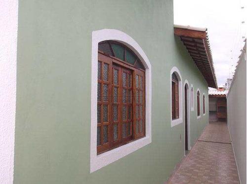casa com 3 dorms, balneário paranapuan, itanhaém - r$ 220 mil, cod: 717 - v717