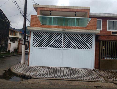 casa com 3 dorms, vila são jorge, são vicente - r$ 330 mil, cod: 496 - v496