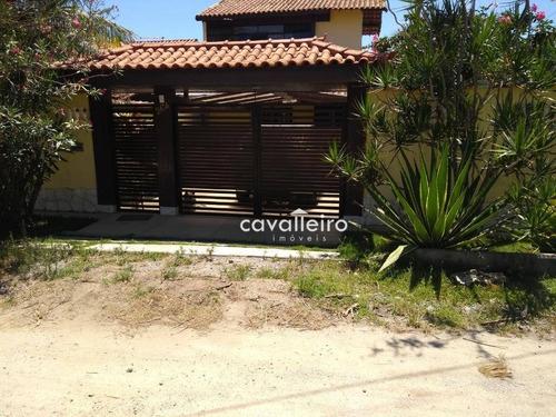 casa com 3 quartos, hidro e 2 piscinas à venda - cordeirinho (ponta negra) - maricá/rj - ca3307