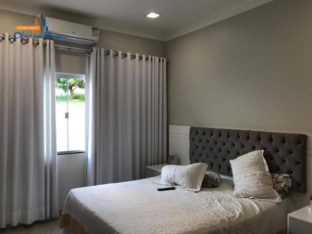 casa com 3 suítes à venda, 217 m² por r$ 580.000 - parque das primaveras - anápolis/go - ca1272