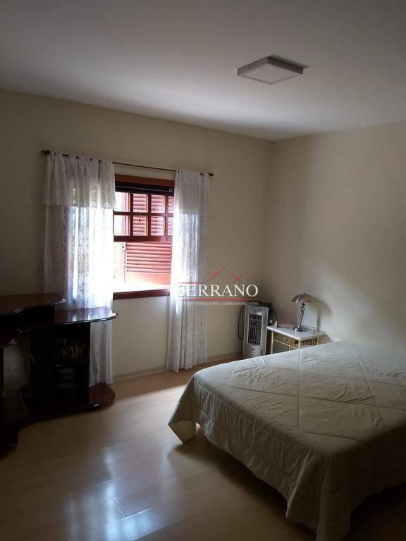 casa com 4 dormitórios para alugar, 490 m² por r$ 5.000,00/mês - condomínio vista alegre - sede - vinhedo/sp - ca0545