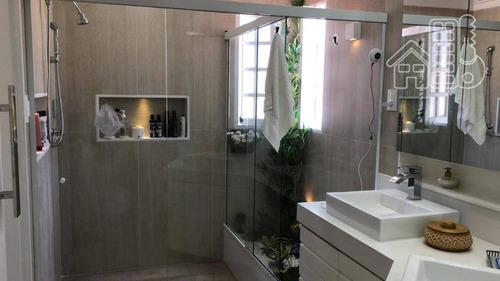 casa com 4 dormitórios sendo 3 suítes à venda, 280 m² por r$ 1.500.000 - itaipu - niterói/rj - ca0807