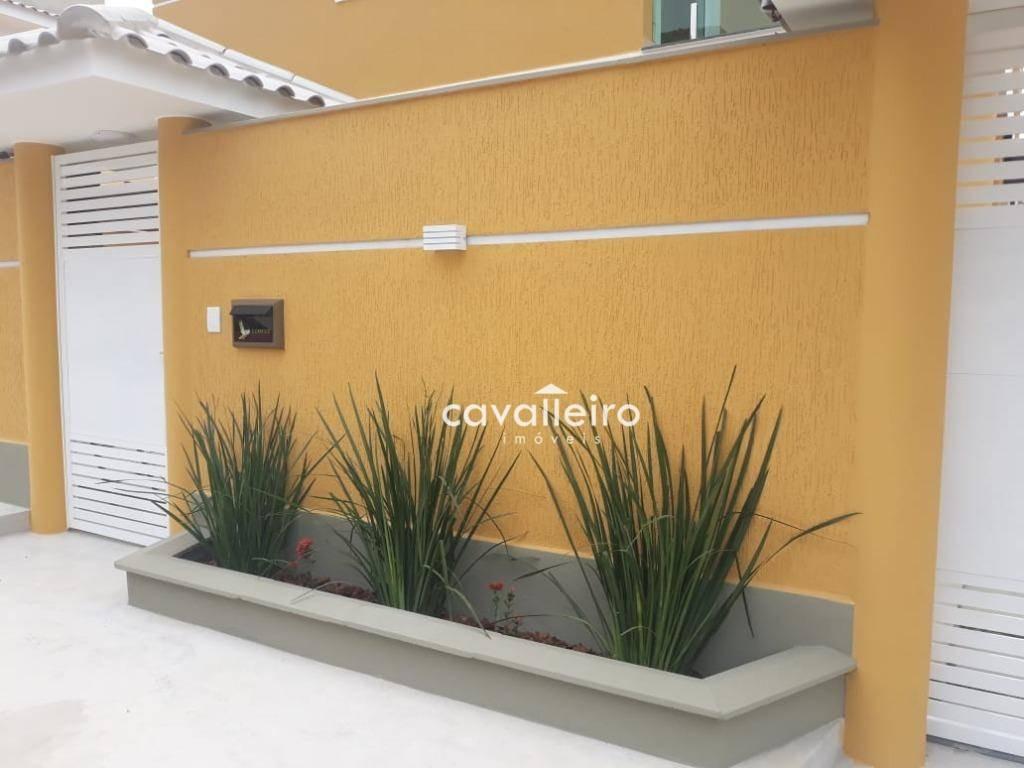 casa com 4 dormitórios à venda, 152 m² - são bento da lagoa - maricá/rj - ca3828