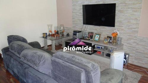 casa com 4 dormitórios à venda, 170 m² por r$ 570.000,00 - jardim das indústrias - são josé dos campos/sp - ca4699