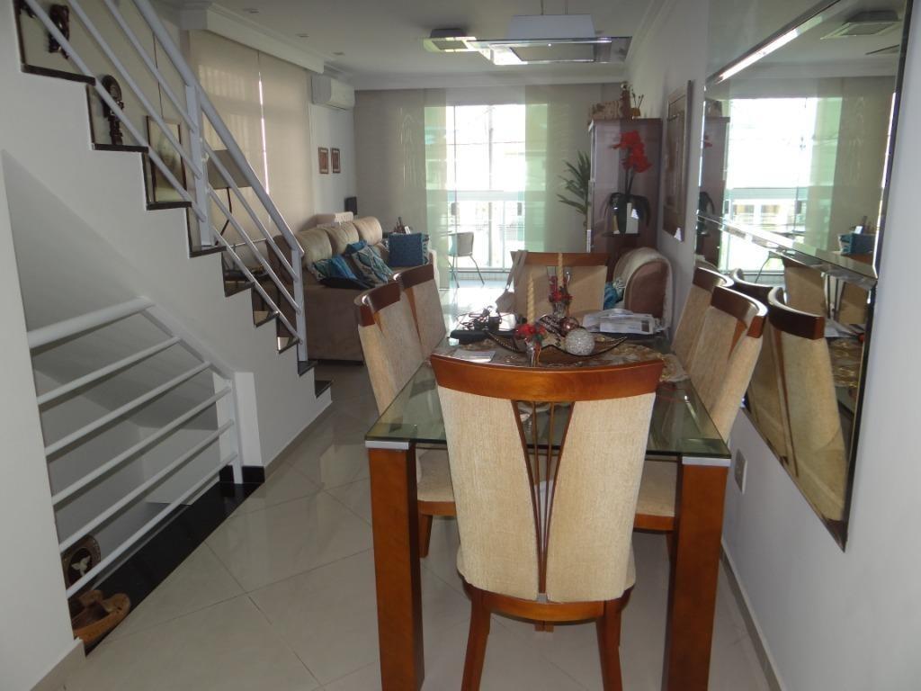 casa com 4 dormitórios à venda, 235 m² por r$ 1.400.000 - marapé - santos/sp - ca0527