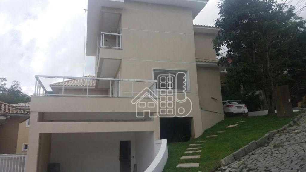 casa com 4 dormitórios à venda, 280 m² por r$ 900.000,00 - maria paula - são gonçalo/rj - ca0506