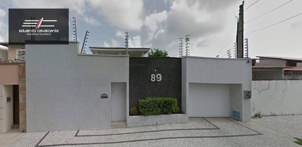 casa com 4 dormitórios à venda, 297 m² por r$ 1.500.000,00 - cambeba - fortaleza/ce - ca0017