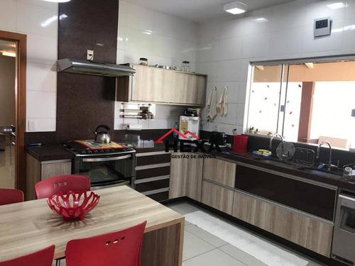 casa com 4 dormitórios à venda, 327 m² por r$ 750.000 - jardim américa - goiânia/go - ca0449