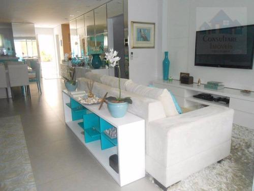 casa com 4 dormitórios à venda, 350 m² por r$ 2.100.000 - jardim três marias - guarujá/sp - ca0342